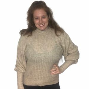 LEITH SWEATER BEIGE OATMEAL HEATHER PULLOVER